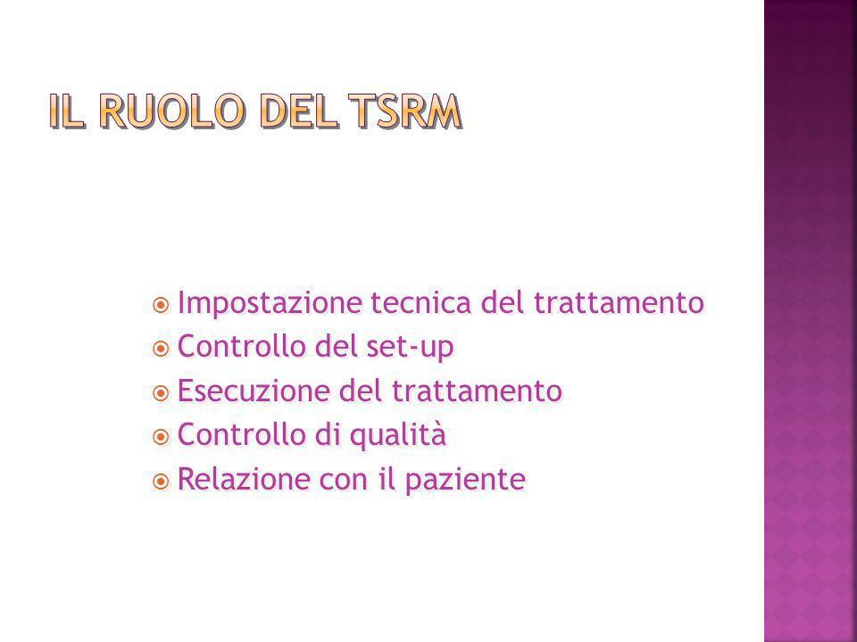 Il ruolo del TSRM Impostazione tecnica del trattamento
