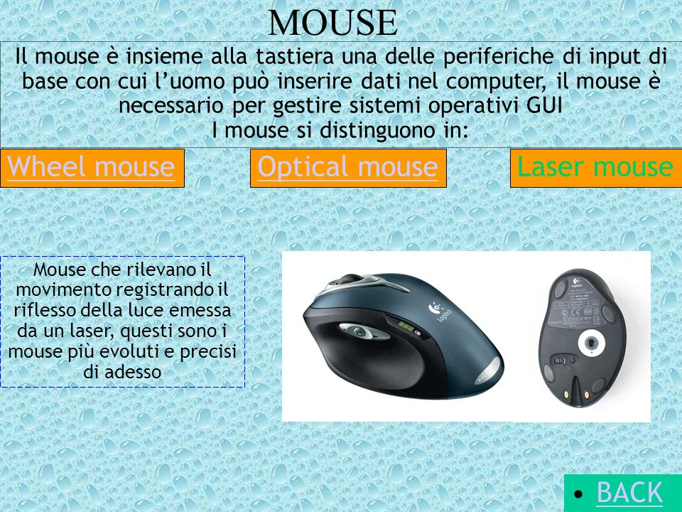 MOUSE Wheel mouse Optical mouse Laser mouse BACK