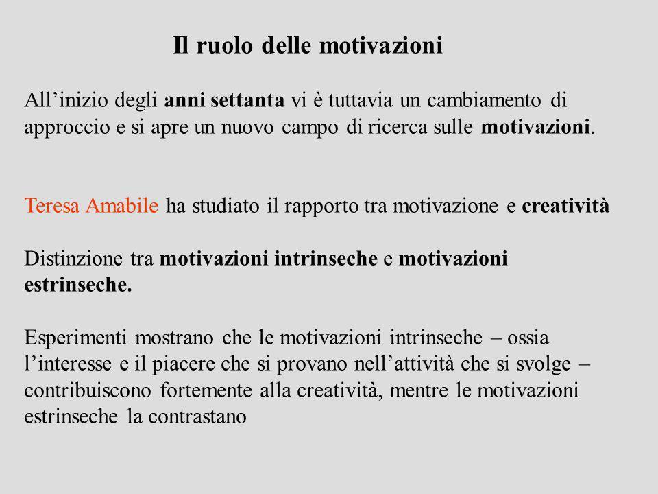 Il ruolo delle motivazioni