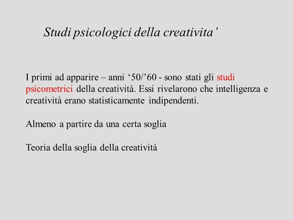 Studi psicologici della creativita'