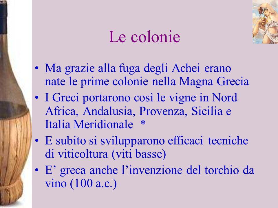 Le colonie Ma grazie alla fuga degli Achei erano nate le prime colonie nella Magna Grecia.