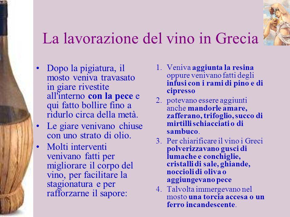 La lavorazione del vino in Grecia