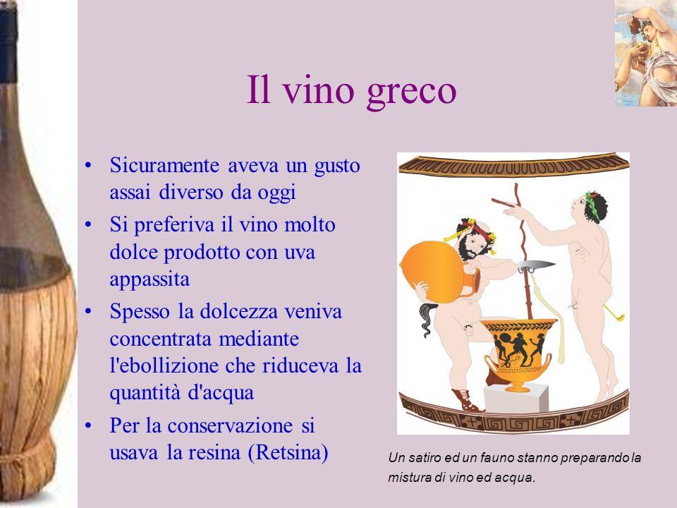 Il vino greco Sicuramente aveva un gusto assai diverso da oggi