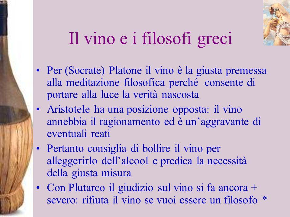 Il vino e i filosofi greci