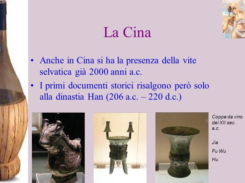 La CinaAnche in Cina si ha la presenza della vite selvatica già 2000 anni a.c.
