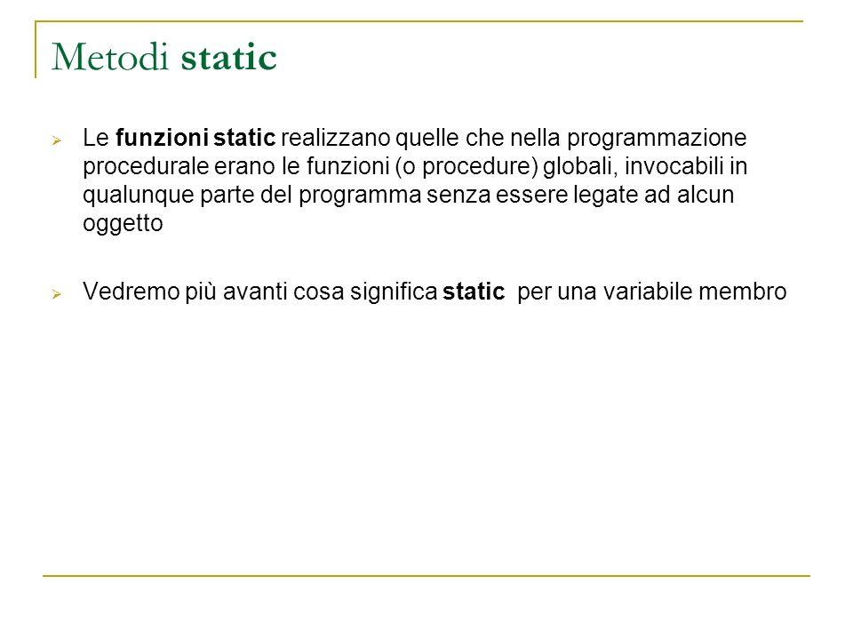 Metodi static