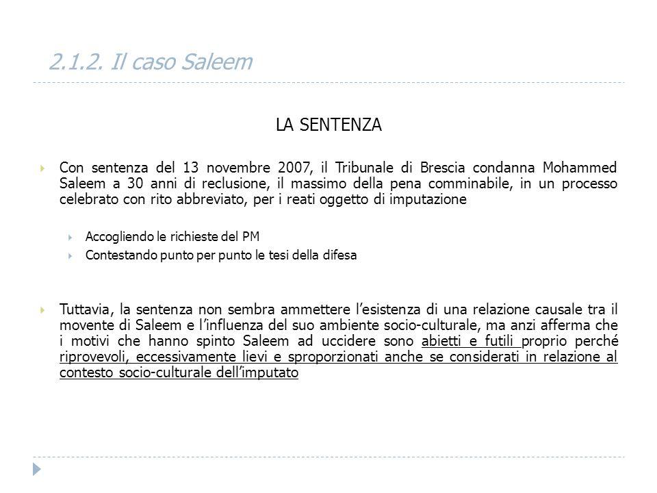 2.1.2. Il caso Saleem LA SENTENZA