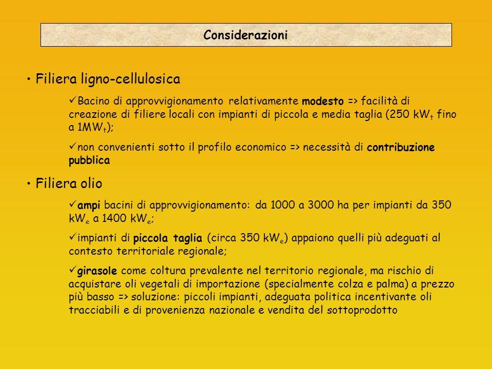 Filiera ligno-cellulosica