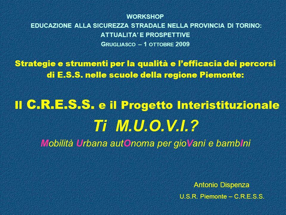 Ti M.U.O.V.I. Il C.R.E.S.S. e il Progetto Interistituzionale