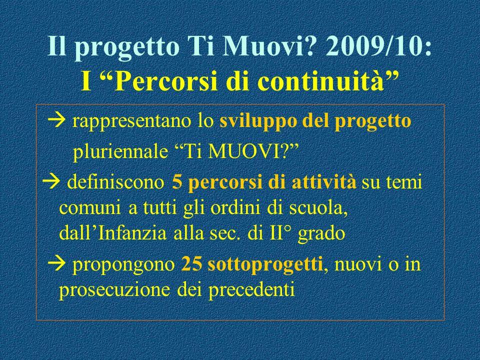 Il progetto Ti Muovi 2009/10: I Percorsi di continuità