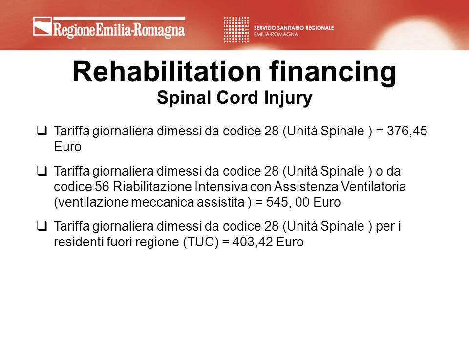Rehabilitation financing