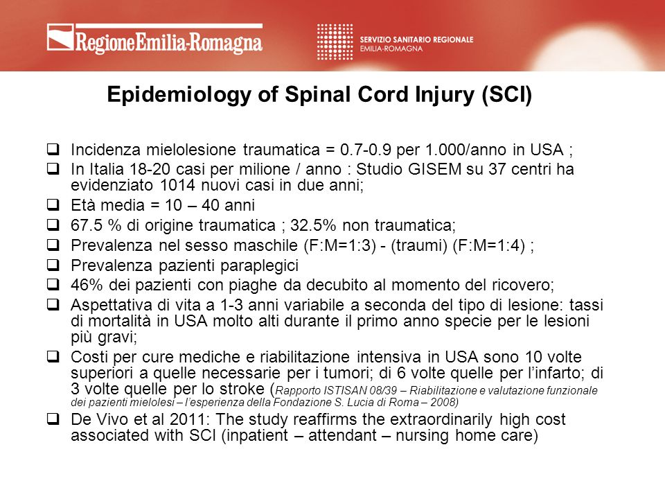 Epidemiology of Spinal Cord Injury (SCI)