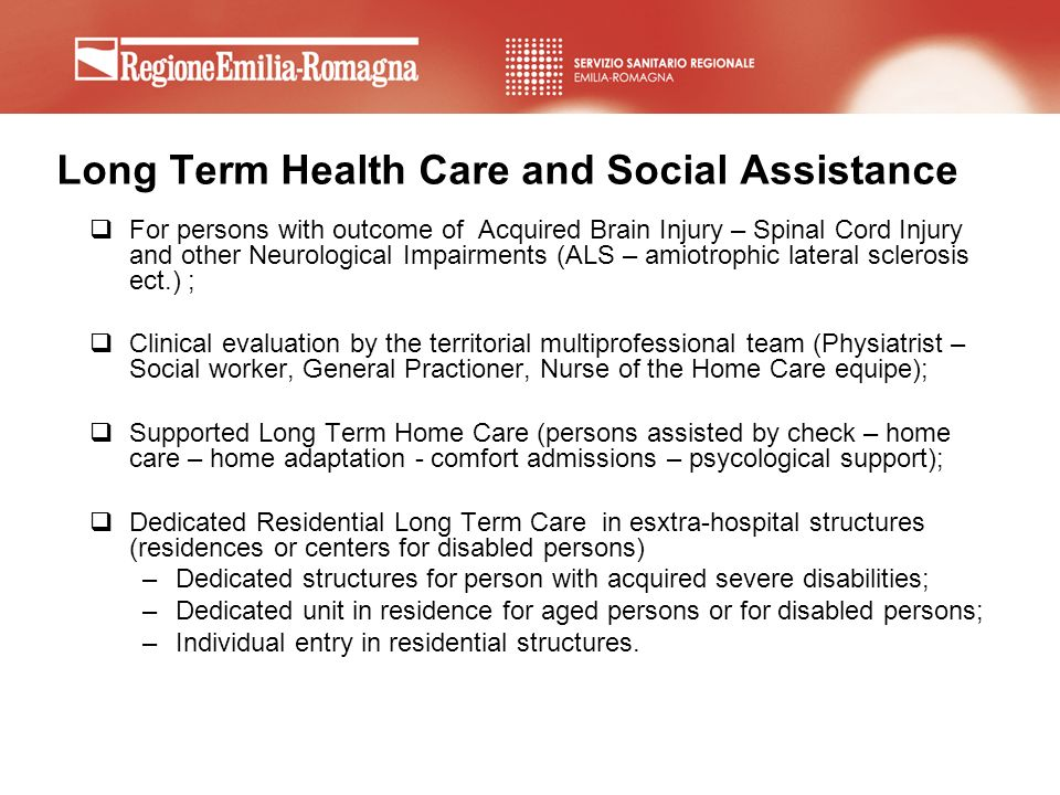 Long Term Health Care and Social Assistance