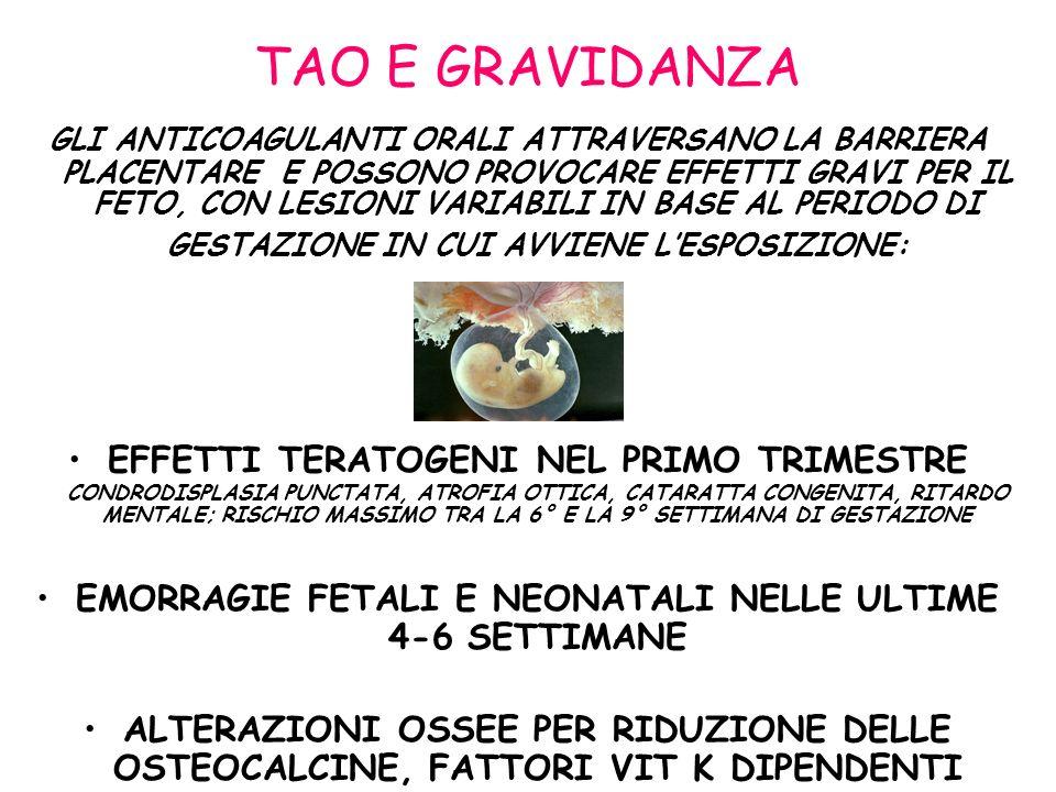 EMORRAGIE FETALI E NEONATALI NELLE ULTIME 4-6 SETTIMANE