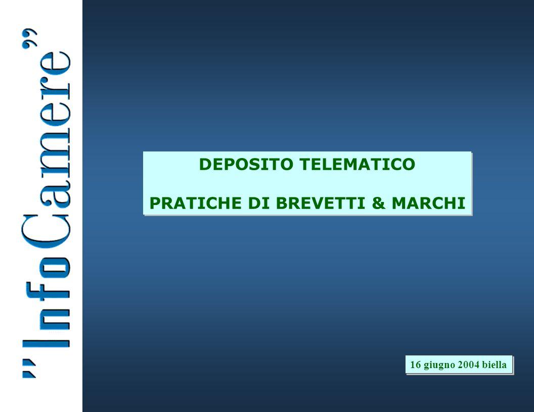 DEPOSITO TELEMATICO PRATICHE DI BREVETTI & MARCHI