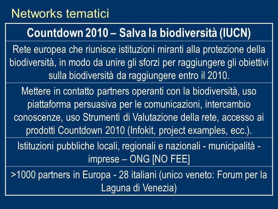 Countdown 2010 – Salva la biodiversità (IUCN)