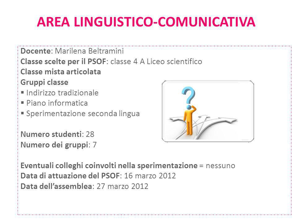 AREA LINGUISTICO-COMUNICATIVA