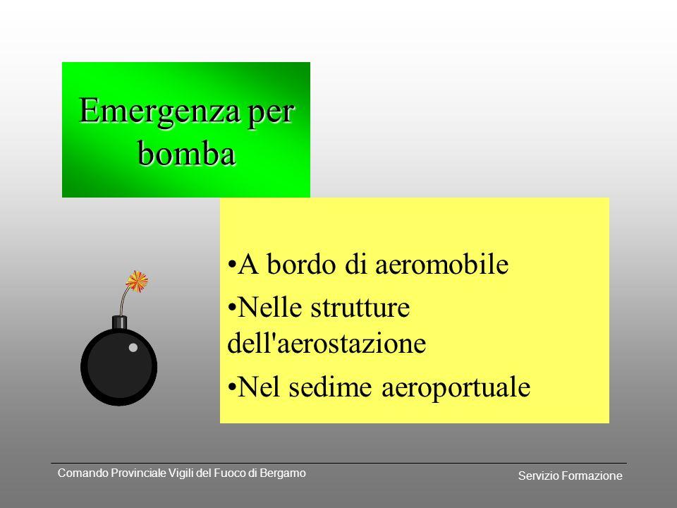 Emergenza per bomba A bordo di aeromobile