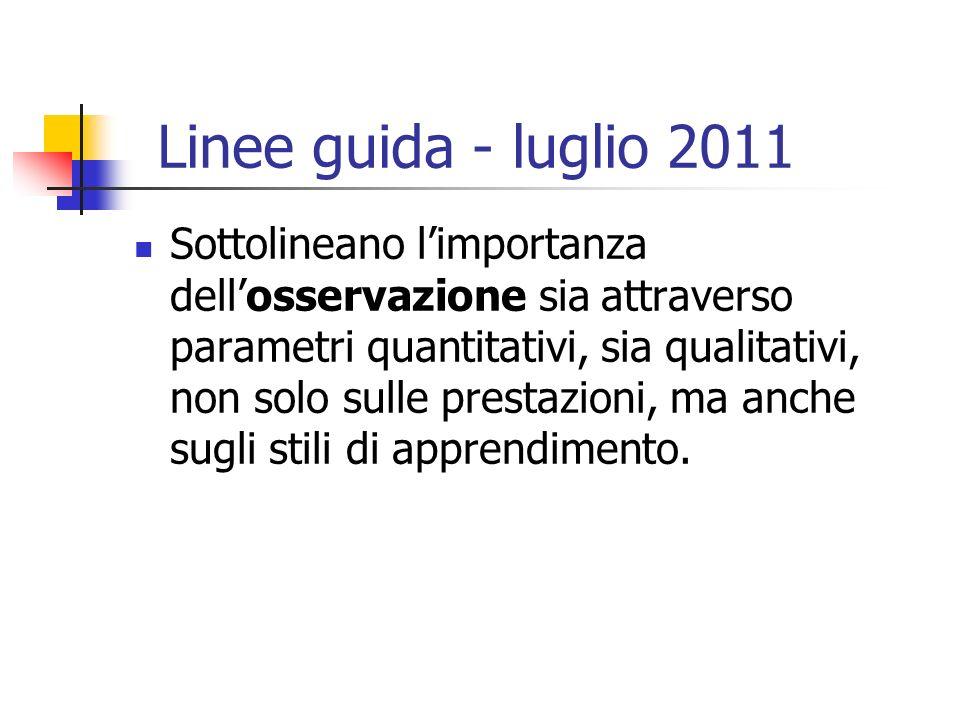 Linee guida - luglio 2011