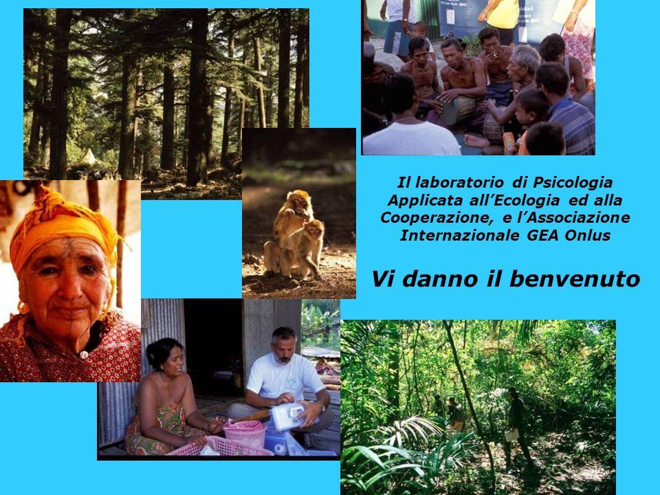 Il laboratorio di Psicologia Applicata all'Ecologia ed alla Cooperazione, e l'Associazione Internazionale GEA Onlus