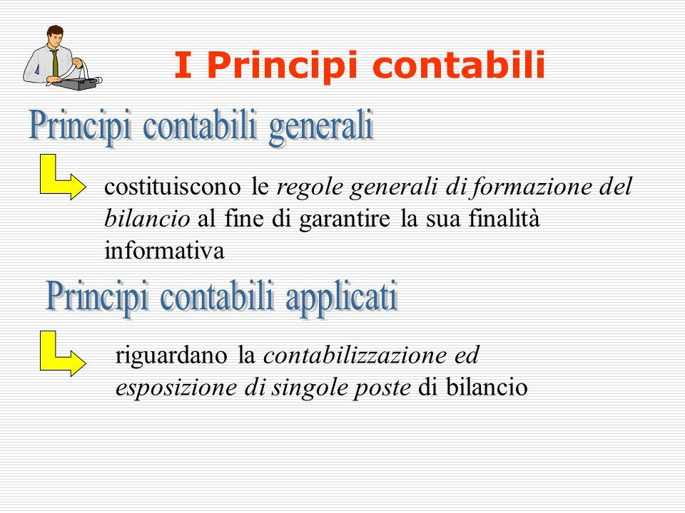 I Principi contabili Principi contabili generali