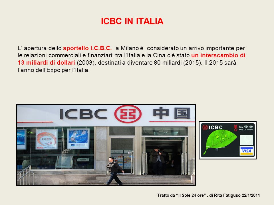 ICBC IN ITALIA