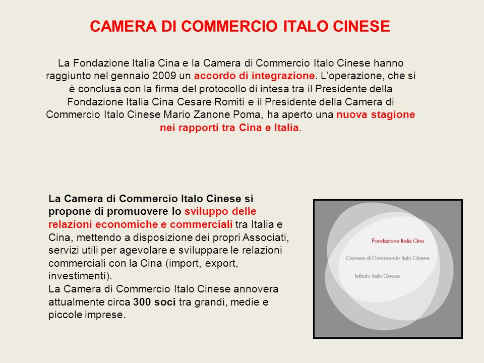 CAMERA DI COMMERCIO ITALO CINESE
