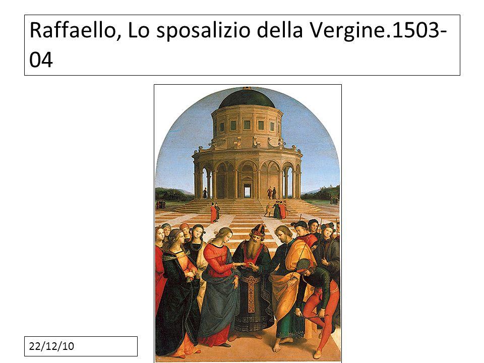Raffaello, Lo sposalizio della Vergine.1503-04
