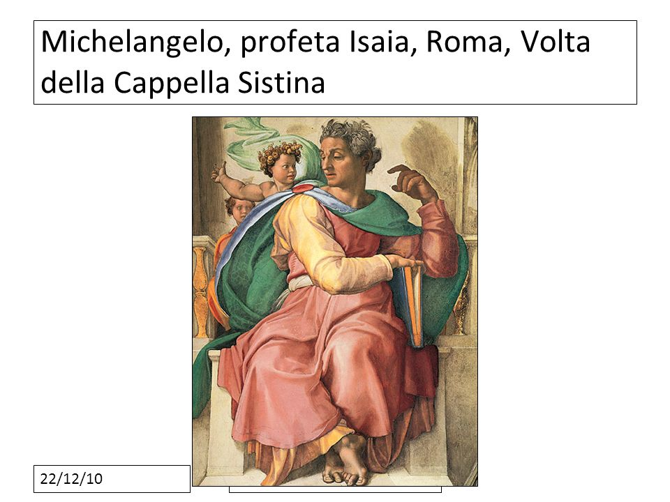 Michelangelo, profeta Isaia, Roma, Volta della Cappella Sistina