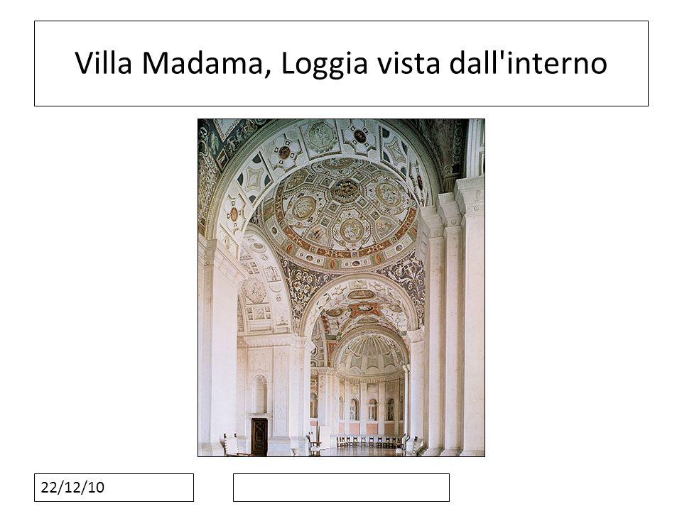 Villa Madama, Loggia vista dall interno