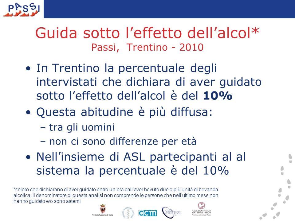 Guida sotto l'effetto dell'alcol* Passi, Trentino - 2010