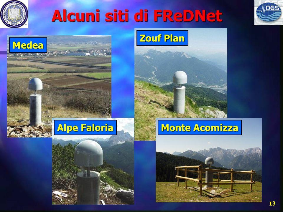 Alcuni siti di FReDNet Zouf Plan Medea Alpe Faloria Monte Acomizza