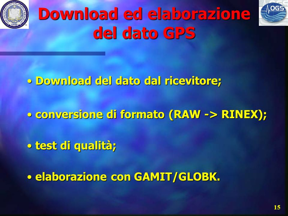 Download ed elaborazione del dato GPS