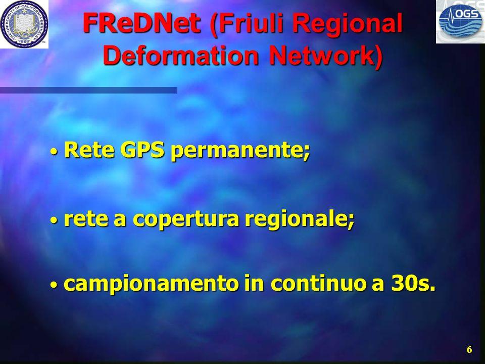 FReDNet (Friuli Regional Deformation Network)