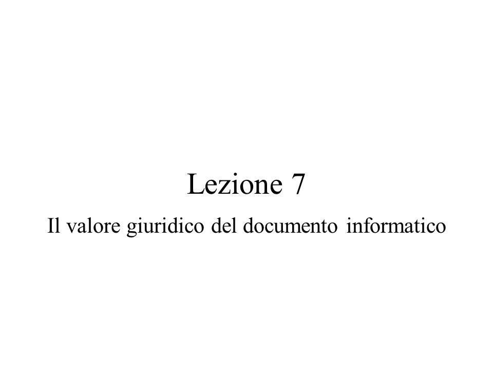 Il valore giuridico del documento informatico