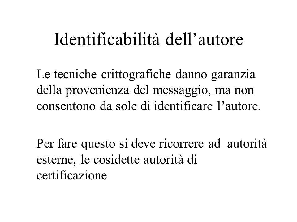 Identificabilità dell'autore