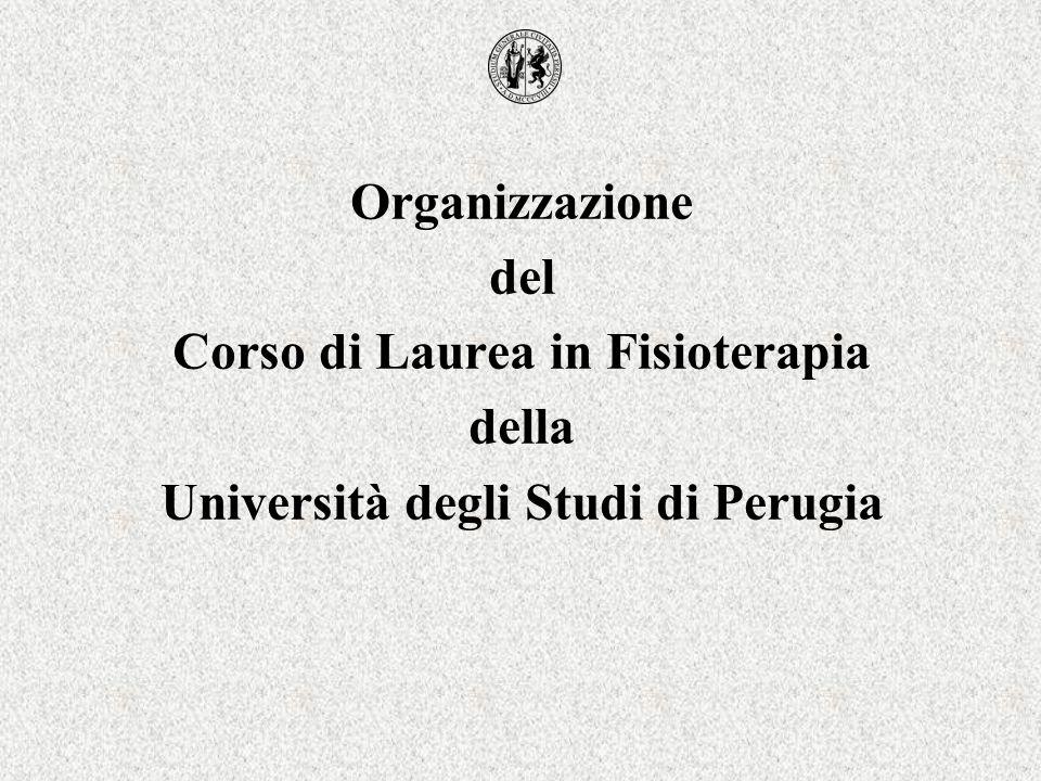 Corso di Laurea in Fisioterapia Università degli Studi di Perugia