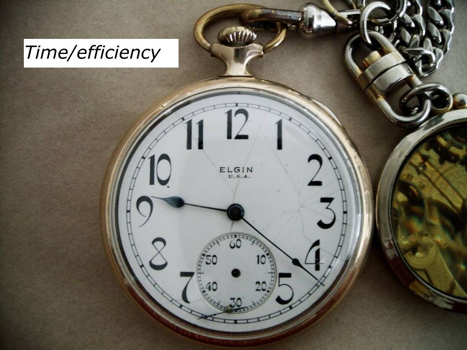 Time/efficiency