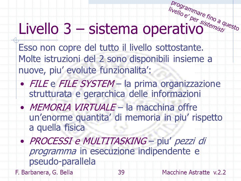 Livello 3 – sistema operativo