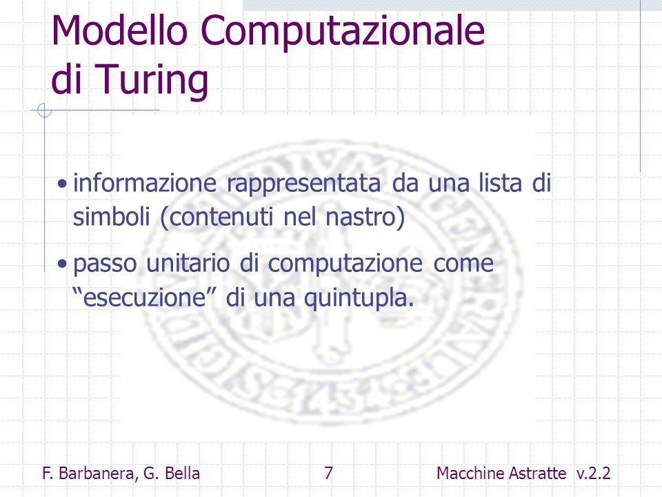 Modello Computazionale di Turing