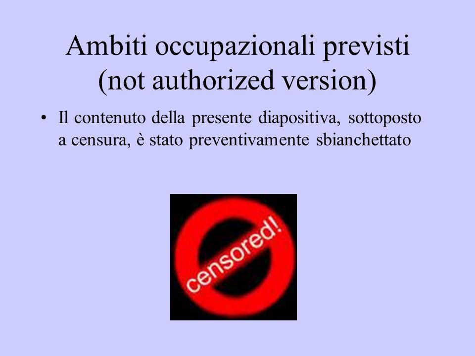 Ambiti occupazionali previsti (not authorized version)