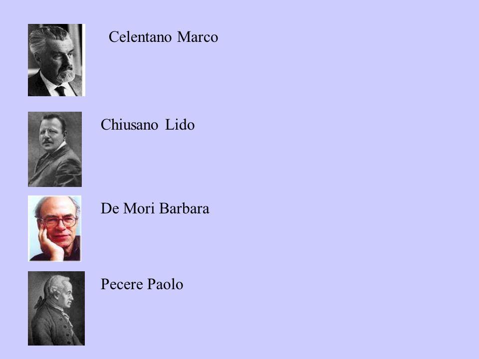 Celentano Marco Chiusano Lido De Mori Barbara Pecere Paolo