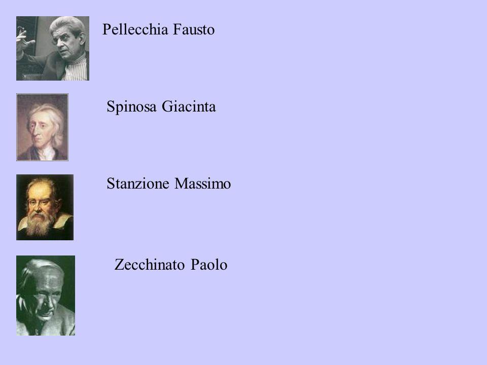 Pellecchia Fausto Spinosa Giacinta Stanzione Massimo Zecchinato Paolo