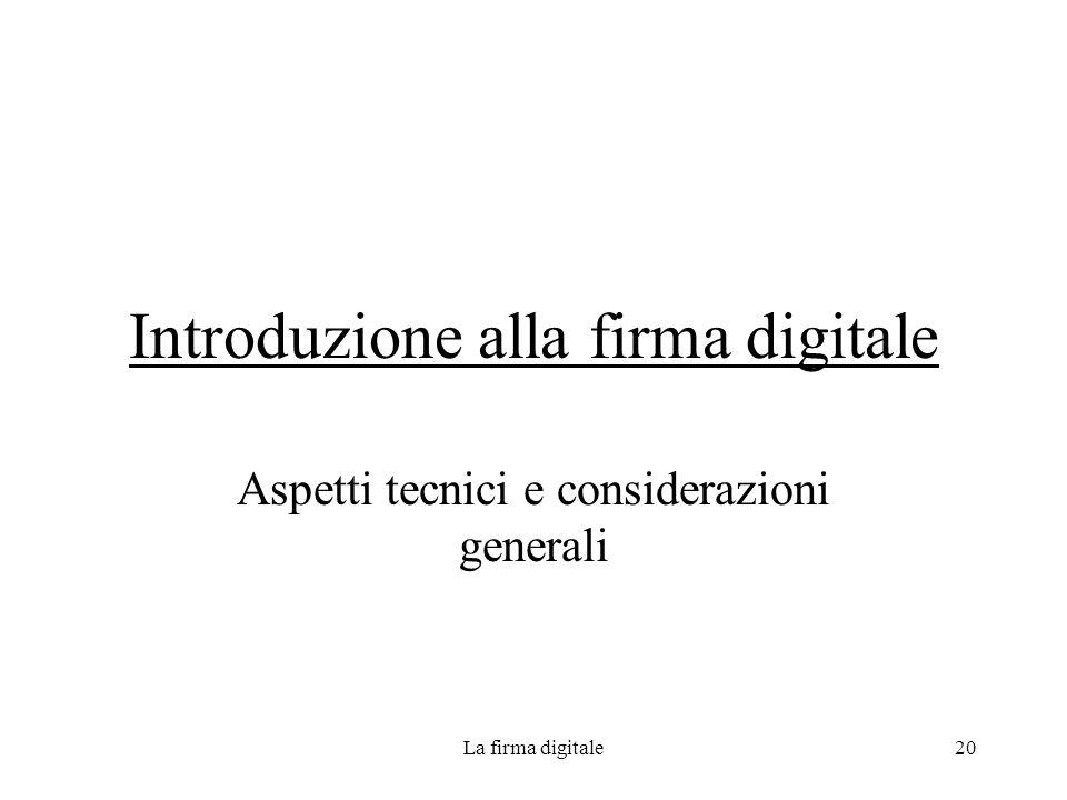 Introduzione alla firma digitale
