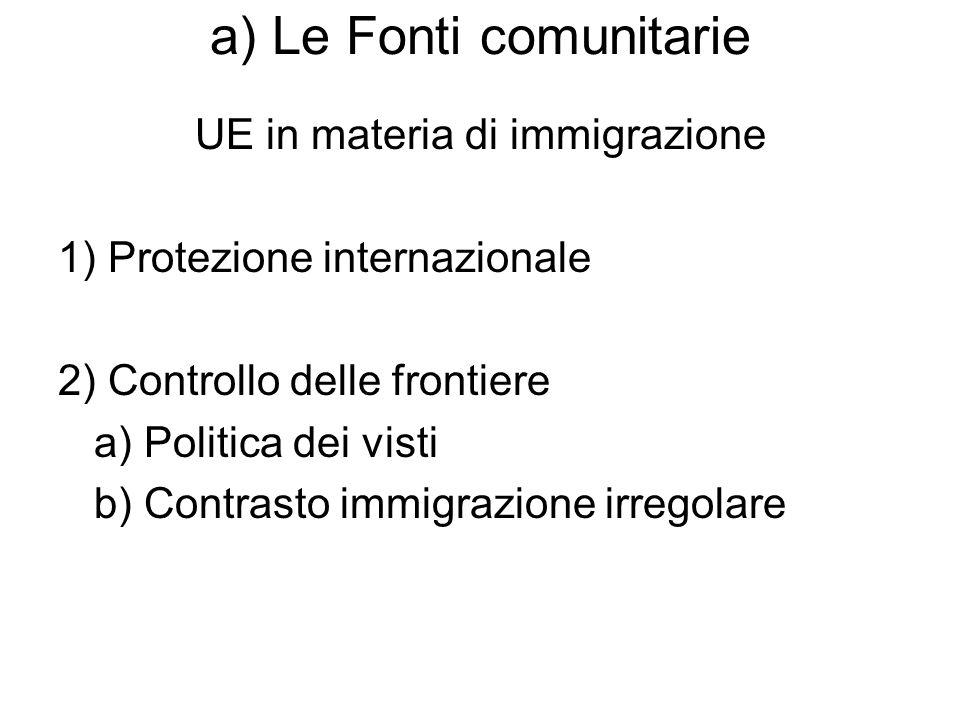 a) Le Fonti comunitarie