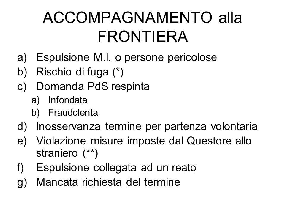 ACCOMPAGNAMENTO alla FRONTIERA