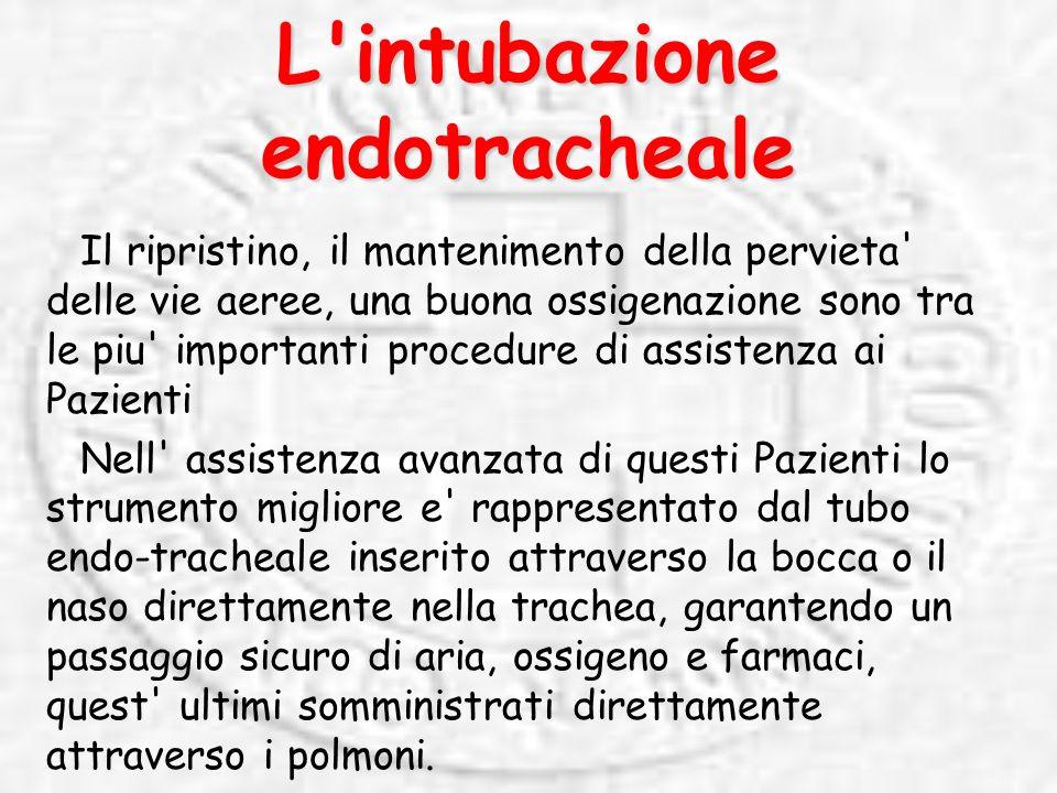 L intubazione endotracheale