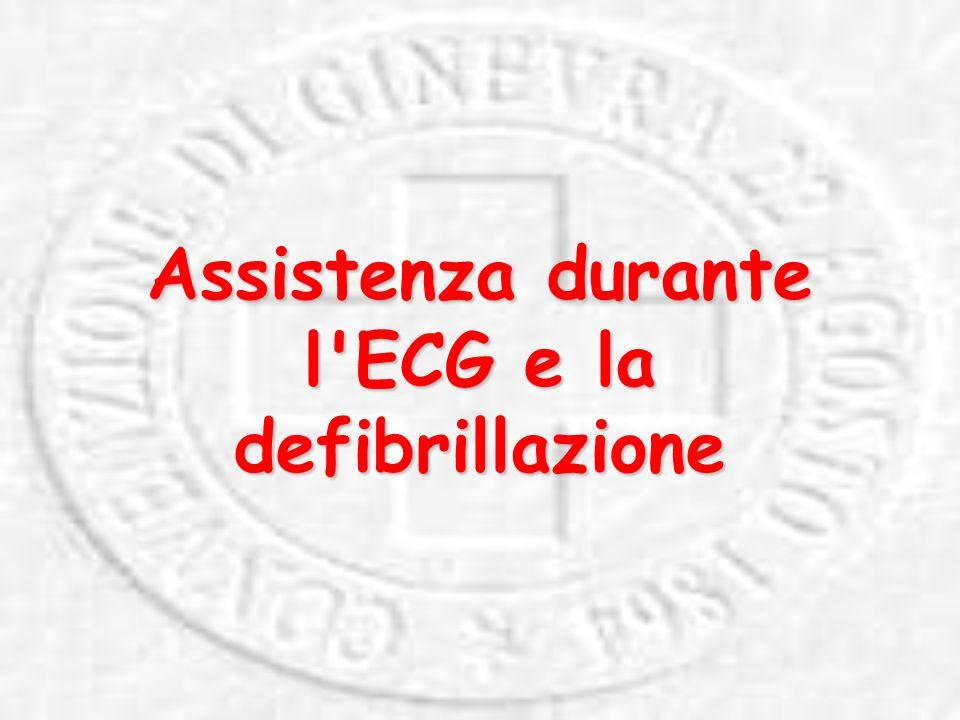 Assistenza durante l ECG e la defibrillazione