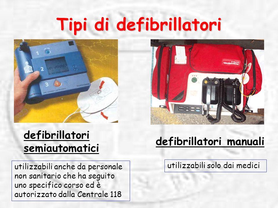 Tipi di defibrillatori