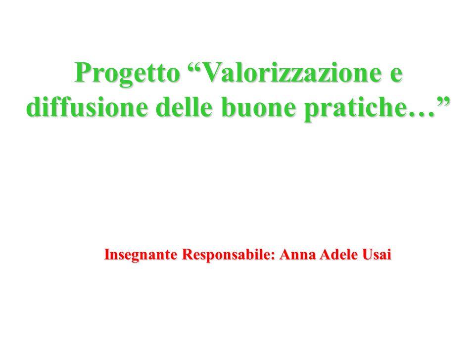 Progetto Valorizzazione e diffusione delle buone pratiche…